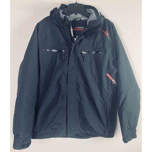 Aigle Actimum Black Sporty Puffer Winter Jacket